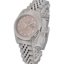 Rolex Used Datejust Ladies 79174 with Salmon Diamond Dial