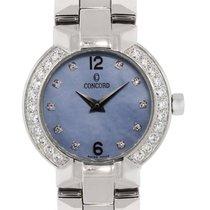 Concord La Scala Blue MOP Diamond Dial & Bezel Ladies Watch