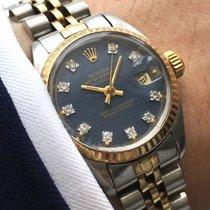 Rolex Lady Ladies Datejust Damen 26mm Steel Gold blue