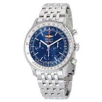 Breitling Navitimer 01 46MM Chronograph Aurora Blue Dial...