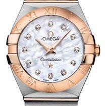 Omega Constellation Stahl/18 kt Roségold Quarz Diamond 27 mm