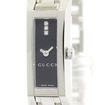 Gucci Polished Gucci G Link 110 Diamond Steel Quartz Ladies...