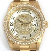 Rolex 18k Day-Date MOP Factory-Set Diamond Dial & Bezel...