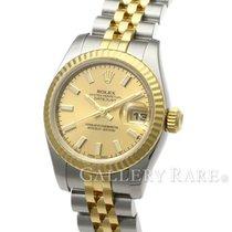 """롤렉스 (Rolex) Datejust Champagne Yellow Gold Steel 26MM """"V..."""