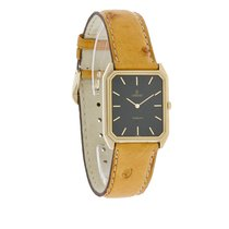Concord San Remo Mens Gold Tone Ostrich Leather Band Swiss Watch