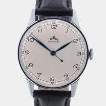 Tellus NOS Bauhaus Silver Dial