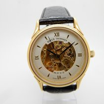 Revue Thommen 22j Automatic Skeleton Dial Gold Plated Black...