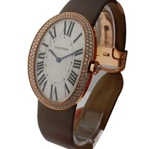 Cartier Baignoire Large in Rose Gold with Diamond Bezel