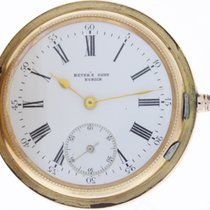 Beyer's Sohn Zürich Taschenuhr Pocket Watch 14K Gold