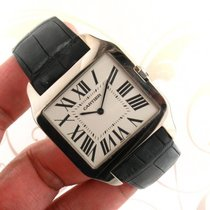 Cartier Santos Dumont W2007051 18k white gold manual wind...