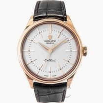 Rolex Cellini Time White/Leather Ø39mm - 50505