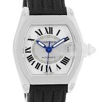 Cartier Roadster Mens Steel Black Strap Large Watch W62000v3
