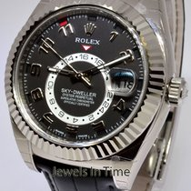 Rolex Sky-Dweller 18k White Gold Mens GMT Watch Box/Papers/Tag...