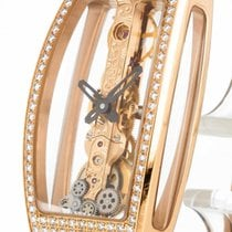 Corum Miss Golden Bridge Handaufzug Roségold an Lederband...