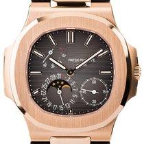 Patek Philippe Nautilus Rose Gold & Leather 5712R-001