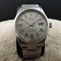 Rolex Datejust 1600 Silver Dial Co-Branded Cartier with Paper