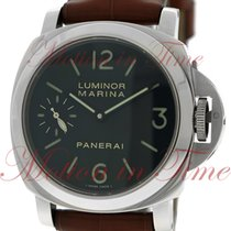 Panerai Luminor Marina Acciaio 44mm Hand Wound, Black Dial,...