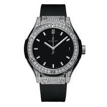 Hublot Classic Fusion 33mm Quartz Titanium and Diamonds Mens...