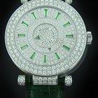 Franck Muller White Gold Double Mystery Diamond Emerald...
