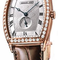 Breguet Heritage Silver Dial 18kt Rose Gold Diamond Brown...