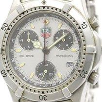 TAG Heuer 2000 Professional Chronograph Steel Quartz Mens...
