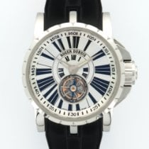 Roger Dubuis Excalibur Flying Tourbillon Steel Strap Watch