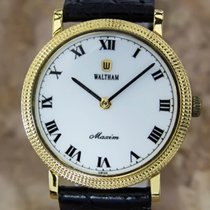 Waltham Vintage 1980s Mens Manual Swiss Made Manual Gold...