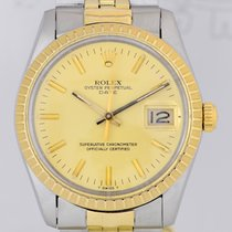 Rolex Date 15053 Plexiglas Stahl Gold Klassiker rar golden...