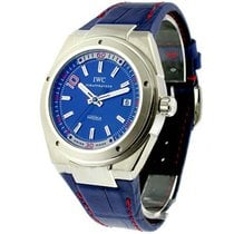 IWC IW323403 - On Blue Leather Strap with Blue Dial