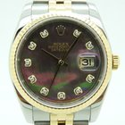 Rolex Datejust 16233 acero y oro madre perla