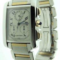 Cartier Tank Francaise Chronoflex Chronograph 18K Gold/Stainle...