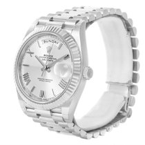 Rolex President Day-date 40mm Quadrant White Gold Watch 228239...