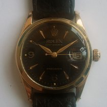 Rolex Oysterdate Precision 14KPG Top Black Honeycomb Dial