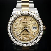 Rolex Diamond Datejust II 41mm Steel and Yellow Gold