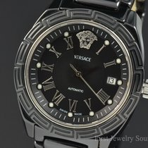 Versace Black Ceramic Black Dial Automatic 40MM Watch 01ACS9D0...