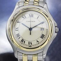 Cartier Panthere Men's 33mm Large Solid 18K Gold Stainless...