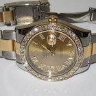 Rolex Datejust II 18K Gold Two Tone Diamonds