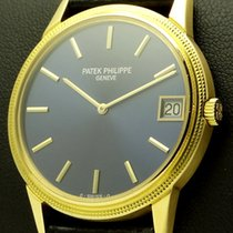 Patek Philippe Calatrava 18 kt yellow gold, blue dial, ref. 3602