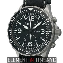 Sinn Diver Chronograph Stainless Steel 43mm Black Dial