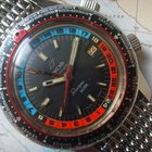 Enicar 1960s GMT Sherpa Guide 600 with Mesh Bracelet