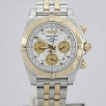 Breitling Chronomat Two Tone Rose Gold Mother Pearl Dial...