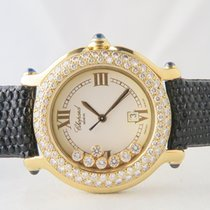 Chopard Happy Sport 7 Floating Afterset Diamonds 18k Yellow Gold