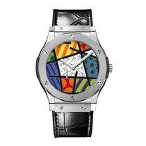Hublot Classic Fusion 45mm Hand Wind Platinum Mens Watch Ref...