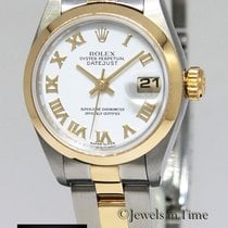 Rolex Datejust 18k Yellow Gold & Stainless Steel White...