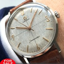 Omega Perfect Omega Seamaster with rare Linen dial cal520 vintage