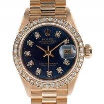 Rolex Datejust Lady Gelbgold Diamond Automatik Armband...