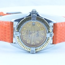Breitling Callistino Damen Uhr Gold Lünette Rar D52045.1