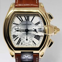 Cartier Roadster Chronograph XL 18k Gold Mens Automatic...