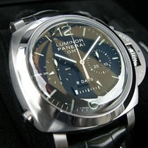 Panerai new  Luminor 44mm Steel 1950 8 Days Gmt Monopulsante...