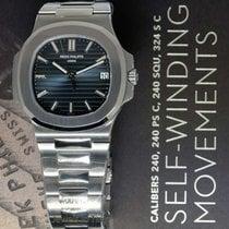 Patek Philippe Nautilus Steel Blue Dial Mens Watch Box/Papers...